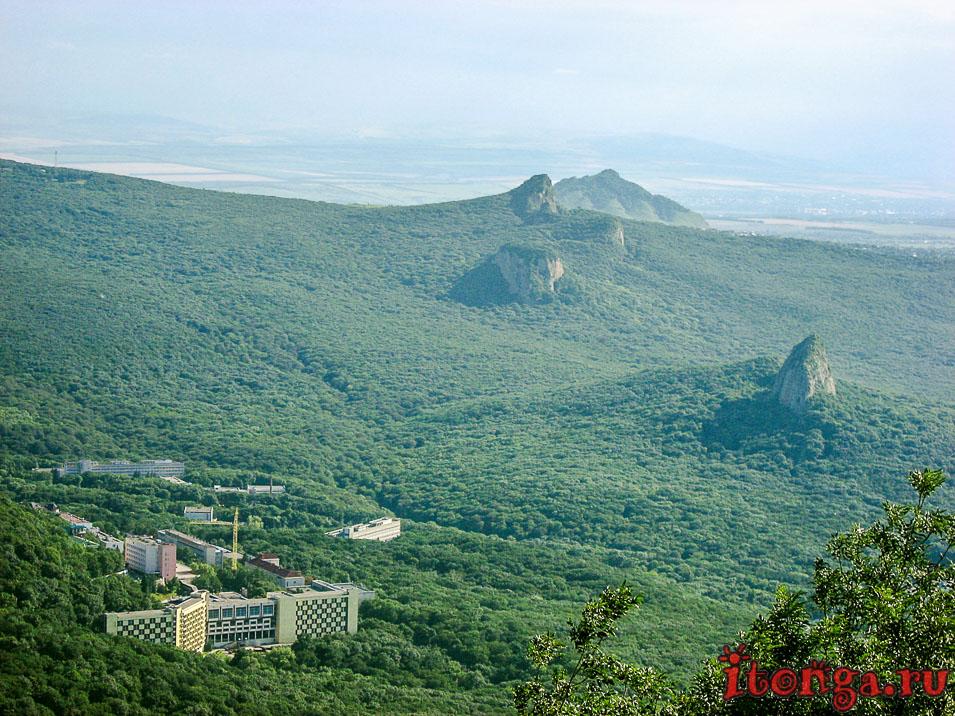 Санаторий Горный воздух, Железноводск, вид с горы Развалка