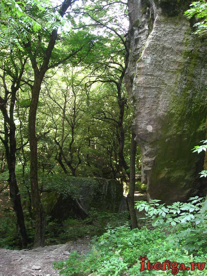 пещера первобытного человека, Железноводск, Селитряные скалы, Развалка