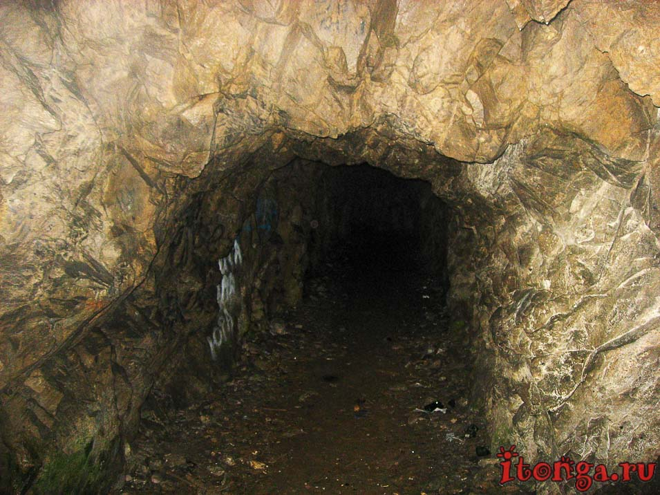 пещера вечной мерзлоты в Железноводске, западная штольня, гора Развалка