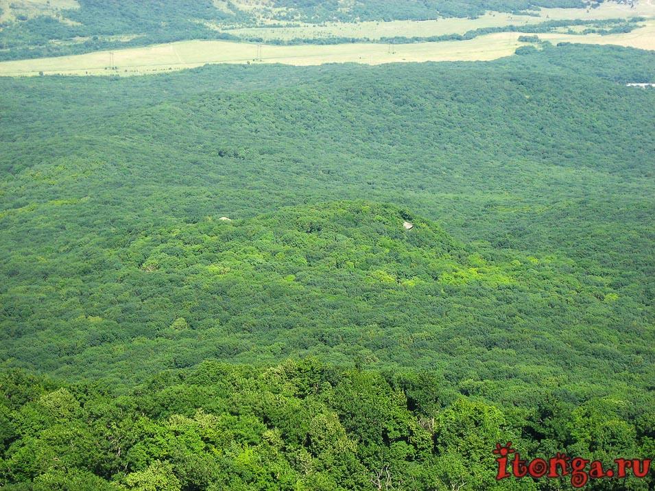 гора Развалка в Железноводске, вид с вершины горы