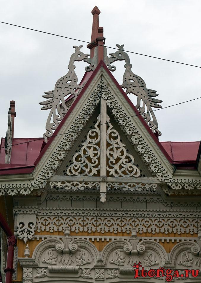 деревянное зодчество томска, дом с жар птицами