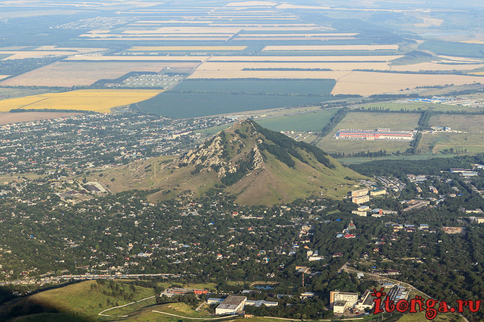 гора Шелудивая, вид с вершины Бештау