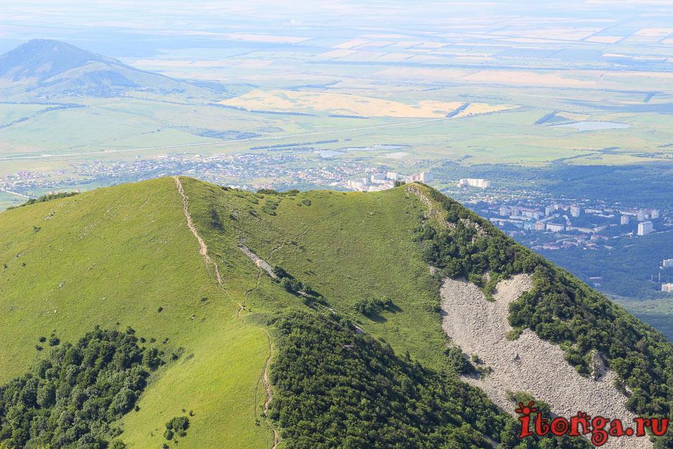 вершина Бештау, подъём на гору, Малый Тау