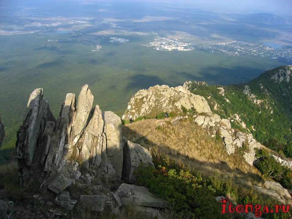 подъём на Бештау, вершина, скала
