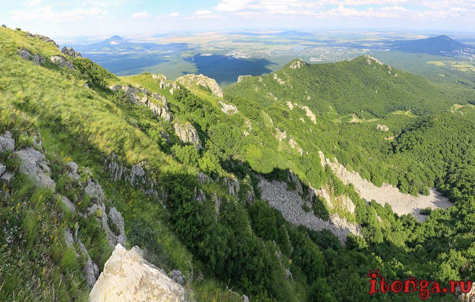 подъём на Бештау, вершина, Козьи скалы