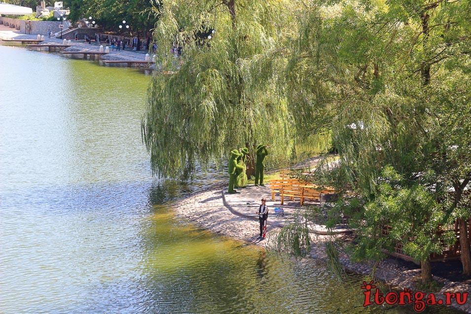 курортное озеро в Железноводске, озеро 30 лет Победы