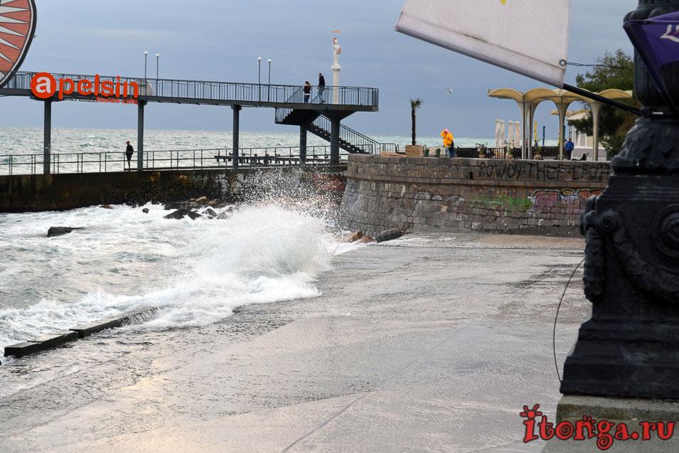 крым, черное море, шторм