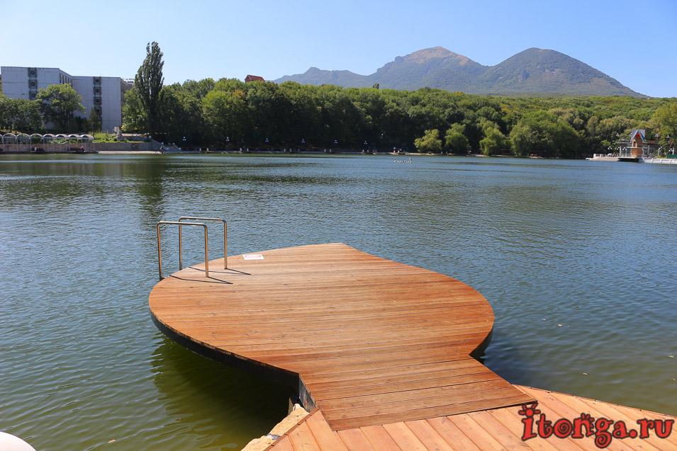 озеро в Железноводске, курортное озеро после реконструкции