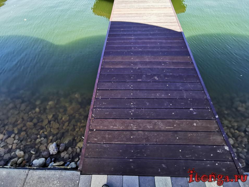 рыбацкий причал, озеро в Железноводске