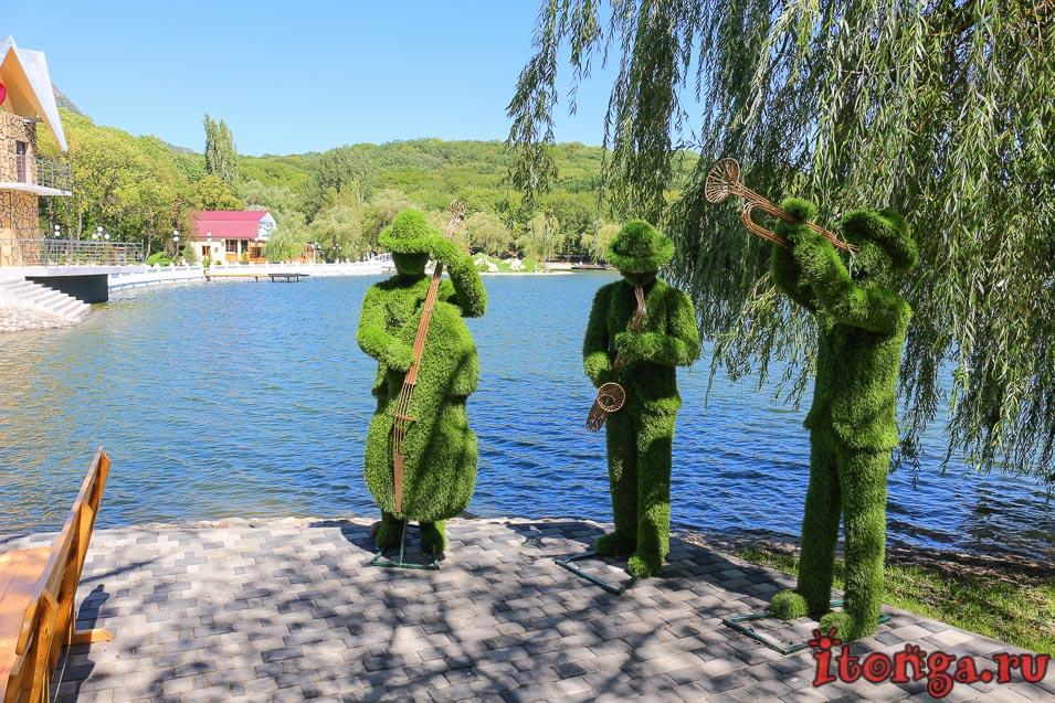 курортное озеро в Железноводске, джазмены