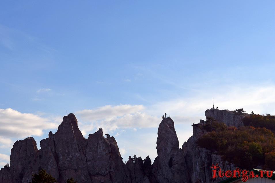 гора ай-петри, подвесной мост, крым, ялта