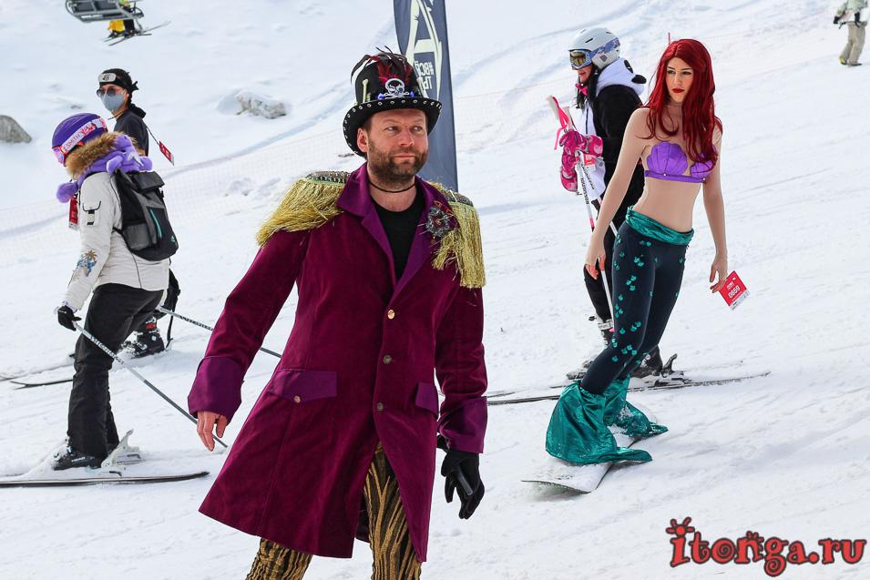Grelka Fest, карнавальный спуск в Шерегеше