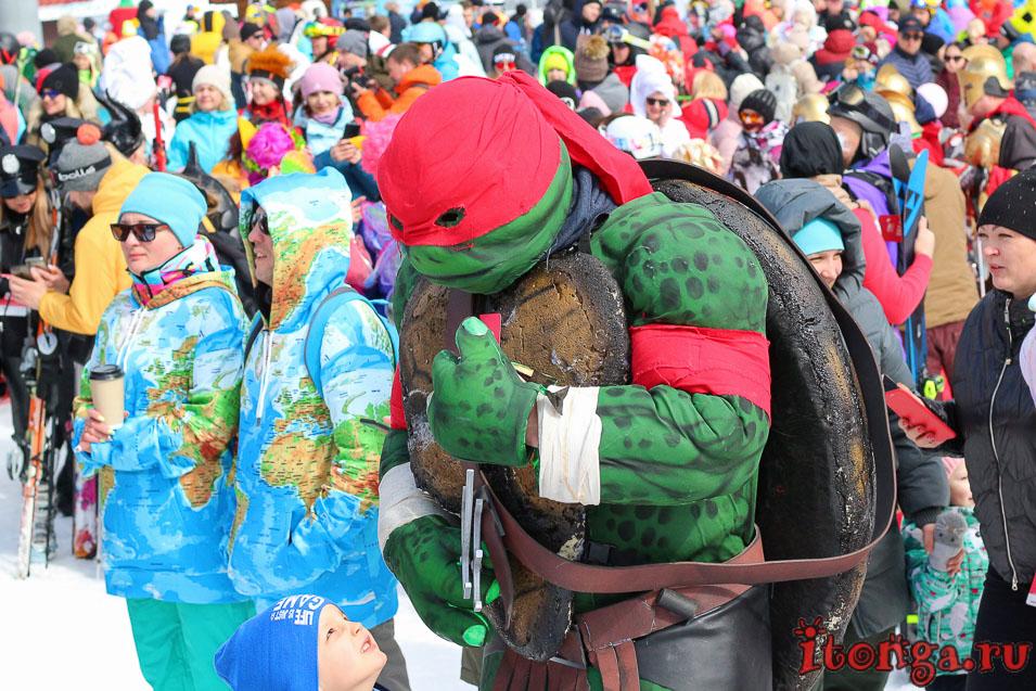 Grelka Fest, Шерегеш, карнавал, черепашка ниндзя