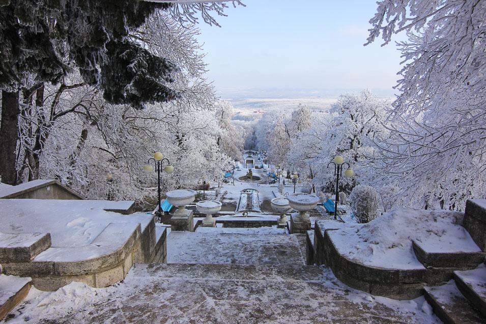 город курорт Железноводск, отдых зимой на Кавказе