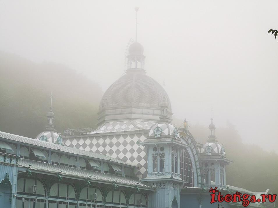 отдых и лечение в Железноводске, туман, Пушкинская галерея