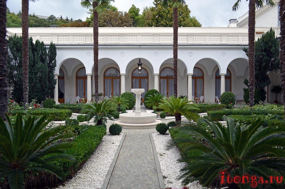 итальянский дворик, дворец, ливадия, ялта