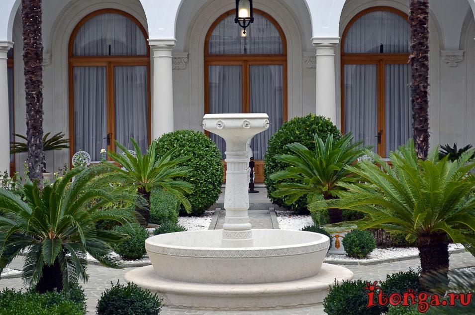 фонтан, ливадийский дворец, итальянский дворик