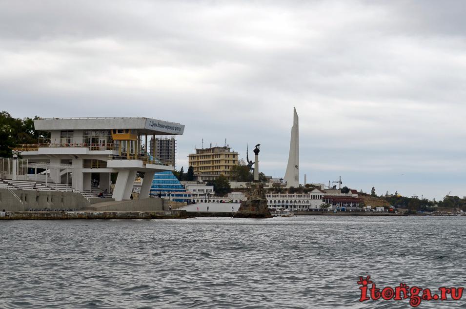 морская прогулка в Севастополе, Крым, военные корабли Севастополя