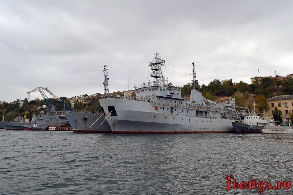 морская прогулка в севастополе, военные корабли, крым
