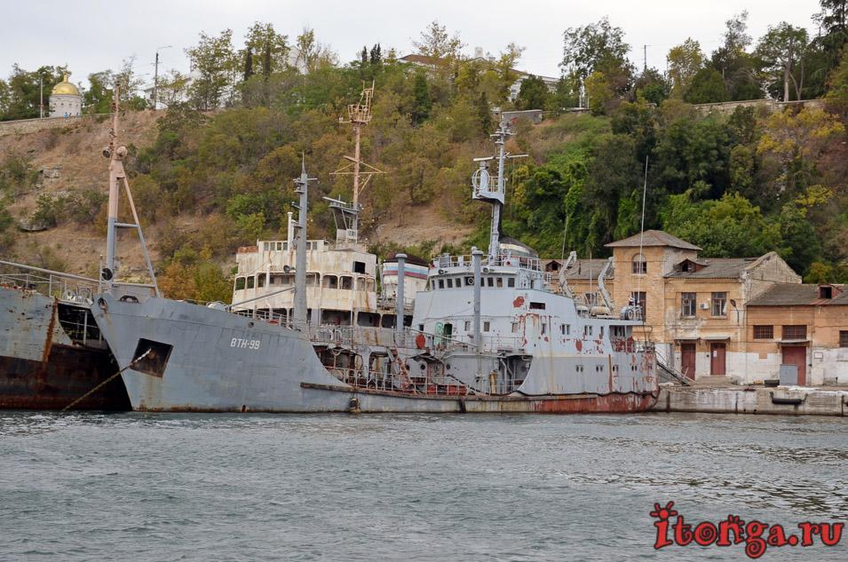 военные корабли севастополя, морская прогулка, крым