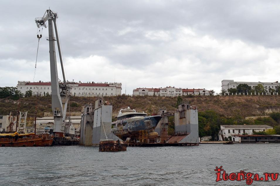 севастопольская бухта, военные корабли, крым