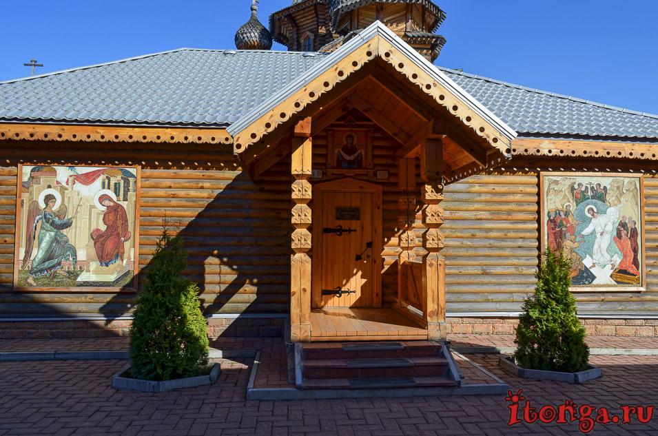 храм, новокузнецк, деревянная архитектура