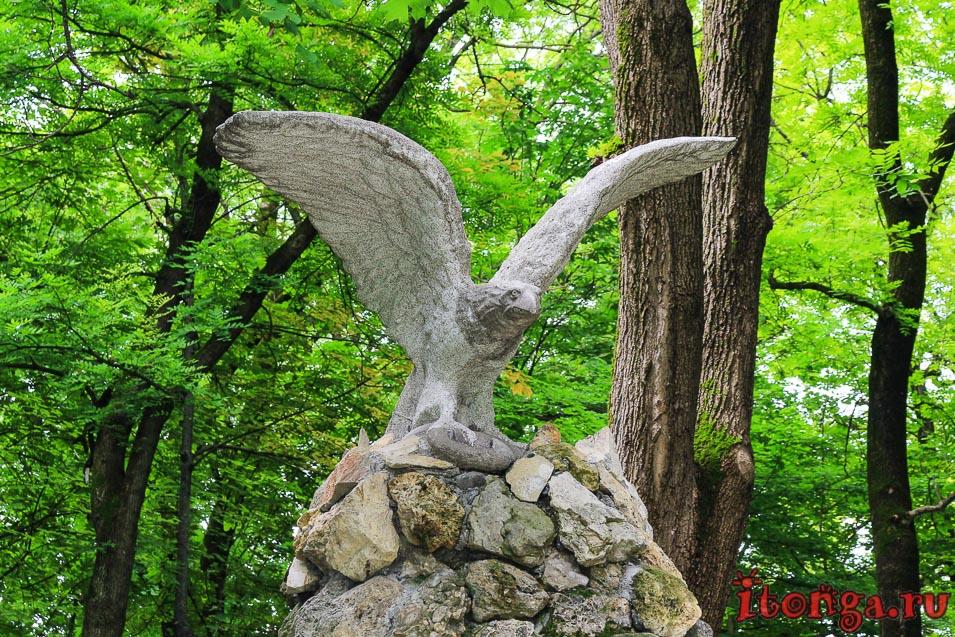 курортный парк в Ессентуках, орёл на КМВ