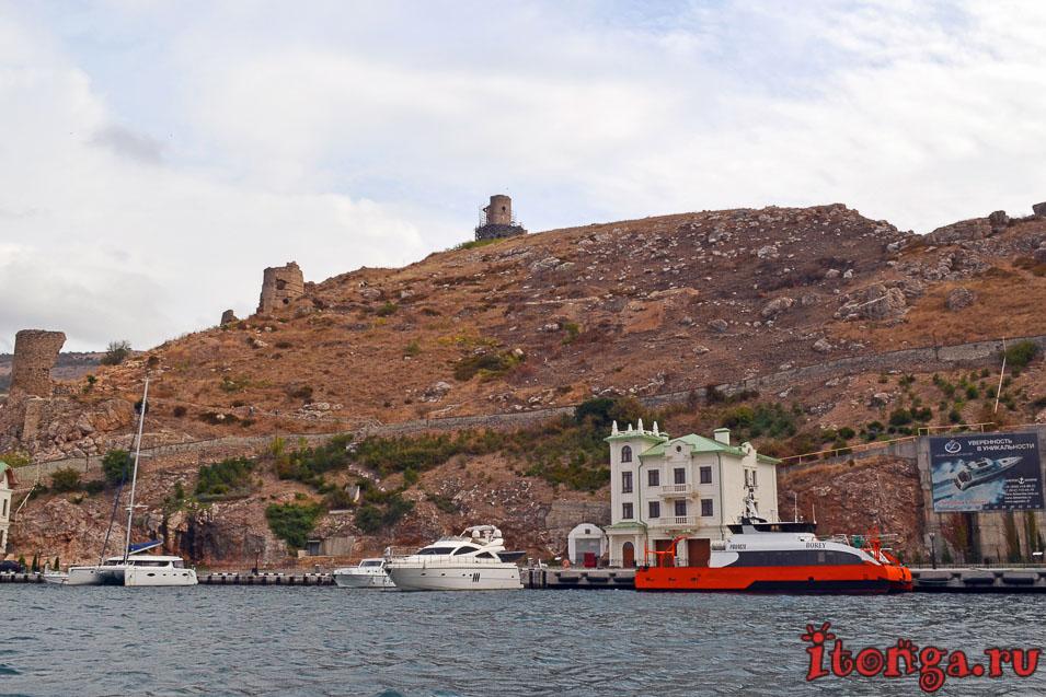 морска прогулка в балаклаве, крепость чембало, крым