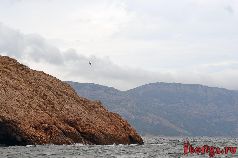 морская прогулка в балаклаве, крым, бухта