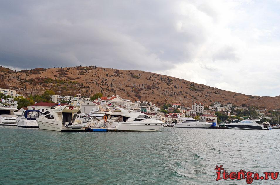 морская прогулка в балаклаве, набережная назукина, яхты