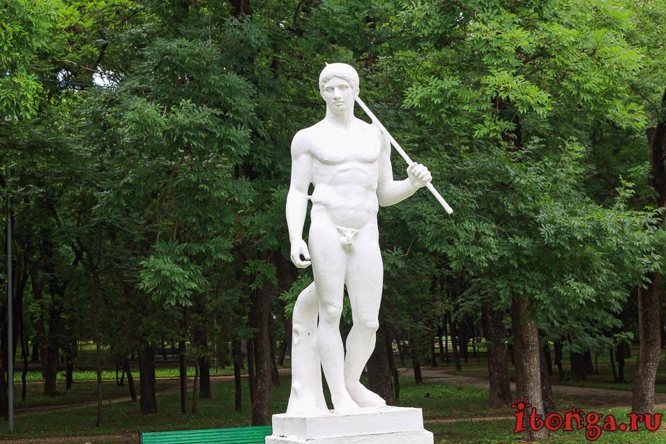 верхние николаевские ванны, парк в Ессентуках, скульптура