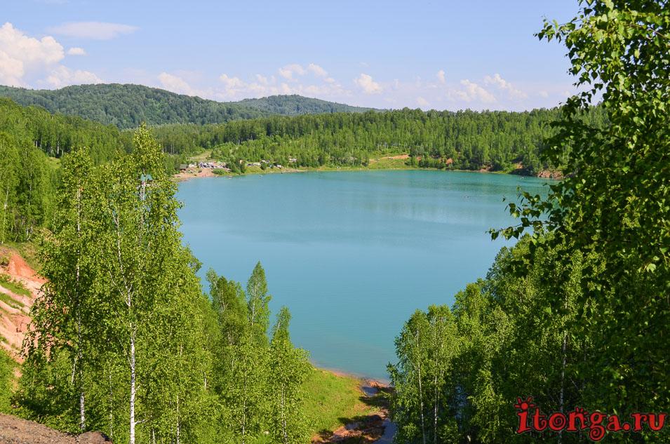 голубые озера темиртау, кемеровская область