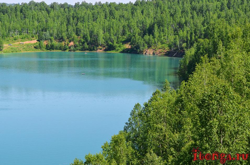 поселок темиртау, озеро