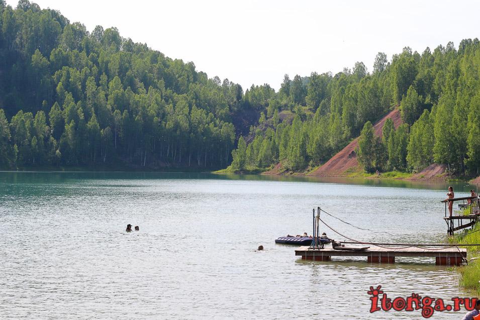 голубые озера темиртау, база отдыха, голубой пруд