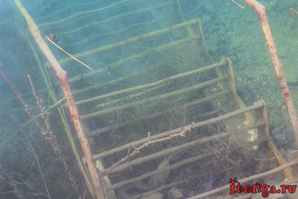 голубые озера темиртау, дайвинг